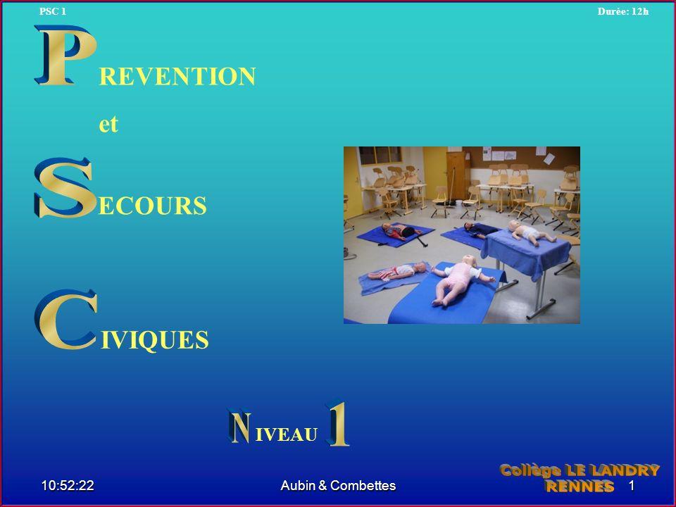 ECOURS IVIQUES REVENTION et IVEAU 10:54:20 PSC 1Durée: 12h 1Aubin & Combettes