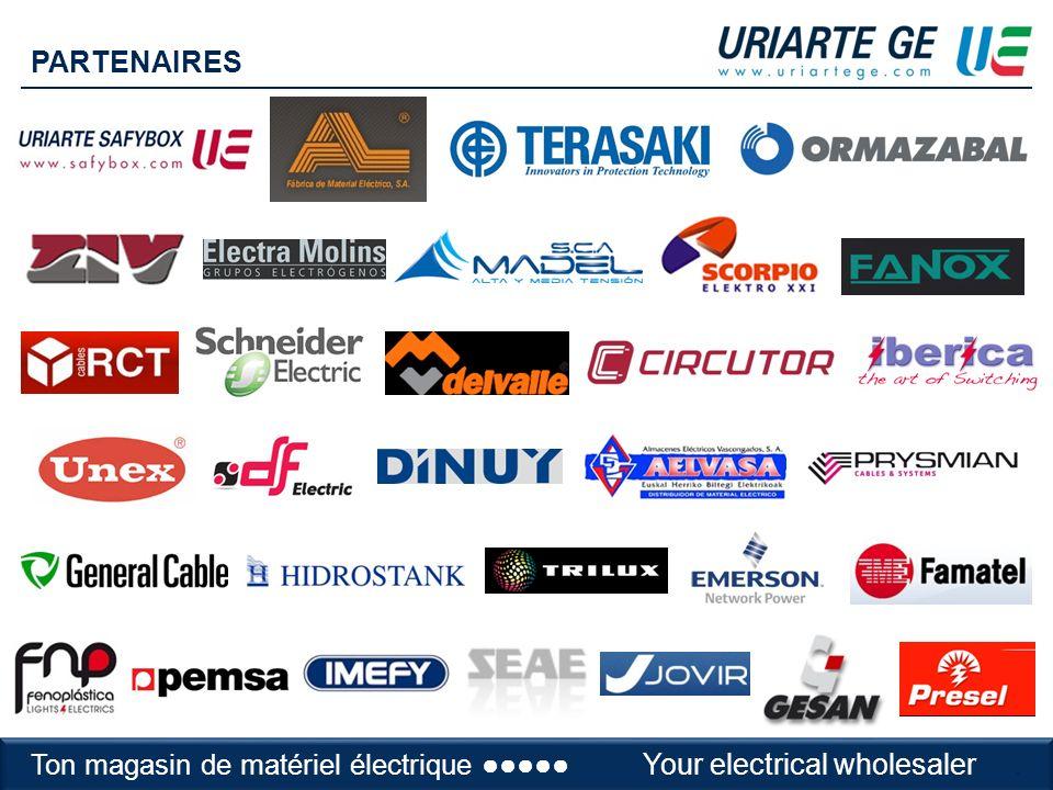 Tu almacén de material eléctricoYour electrical wholesaler PARTENAIRES Ton magasin de matériel électrique Your electrical wholesaler.