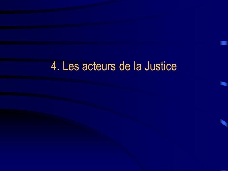 4. Les acteurs de la Justice
