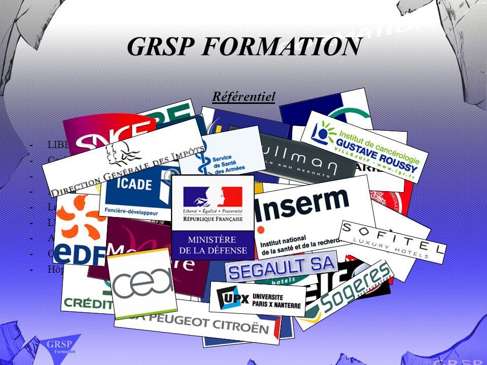 GRSP FORMATION Référentiel -LIBERTEL Hôtel Opéra Franklin -Casino RHUL à Nice -GFF Montparnasse -Nombreux Palais de Justice -Le Palais de lElysée -LHô