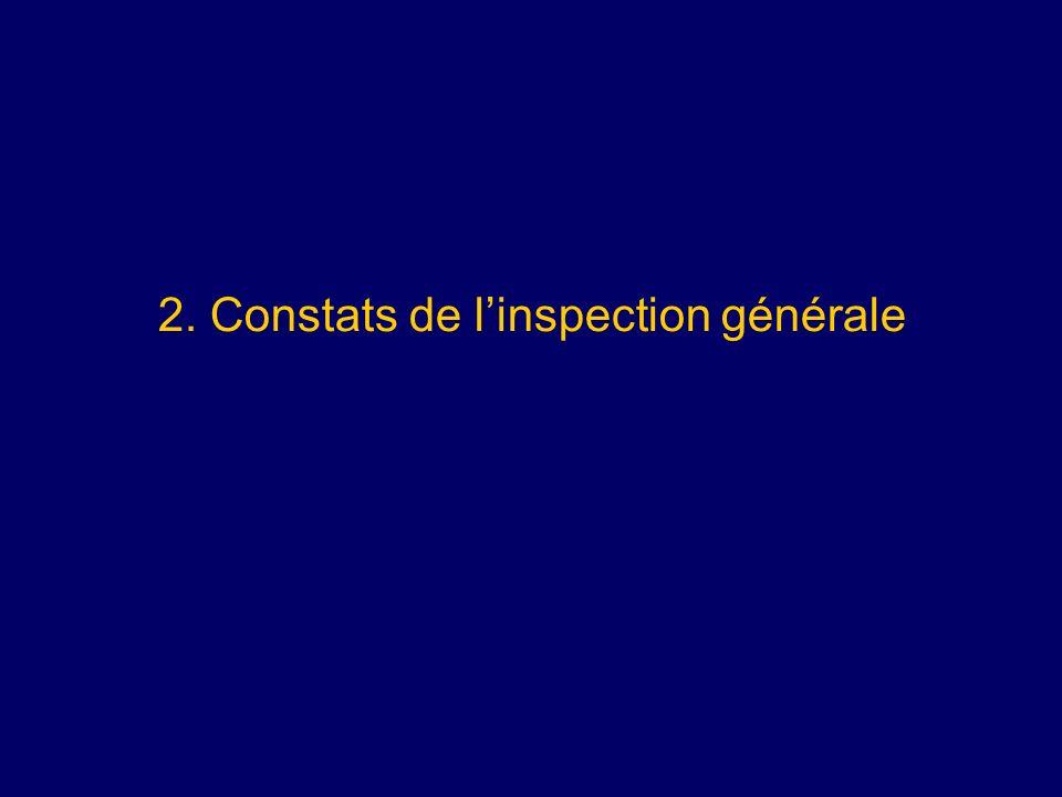 2. Constats de linspection générale