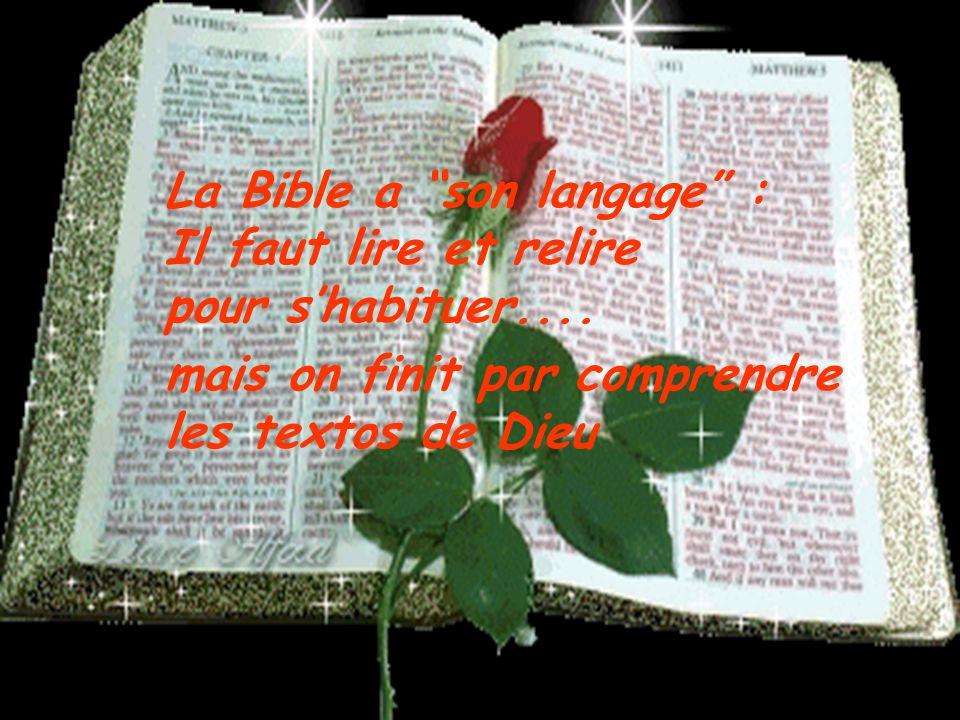 La Bible nest pas faite que pour les savants, mais pour tout le Peuple de Dieu. LEsprit Saint est avec toi quand tu lis et que tu cherches la Lumière