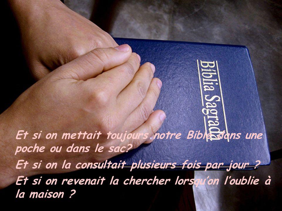Et si on mettait toujours notre Bible dans une poche ou dans le sac.