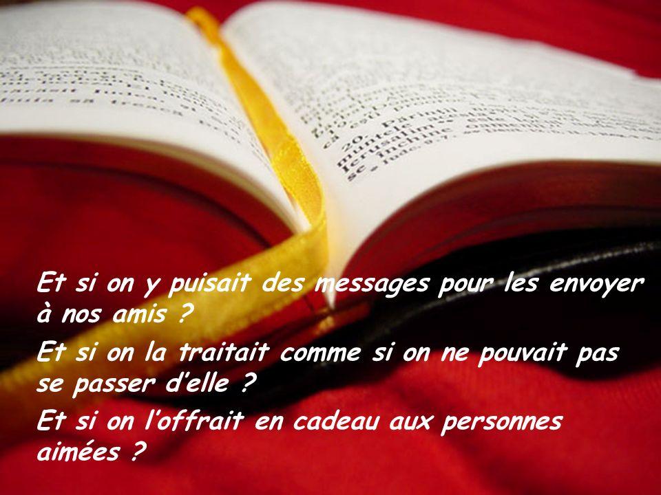 Et si on mettait toujours notre Bible dans une poche ou dans le sac? Et si on la consultait plusieurs fois par jour ? Et si on revenait la chercher lo