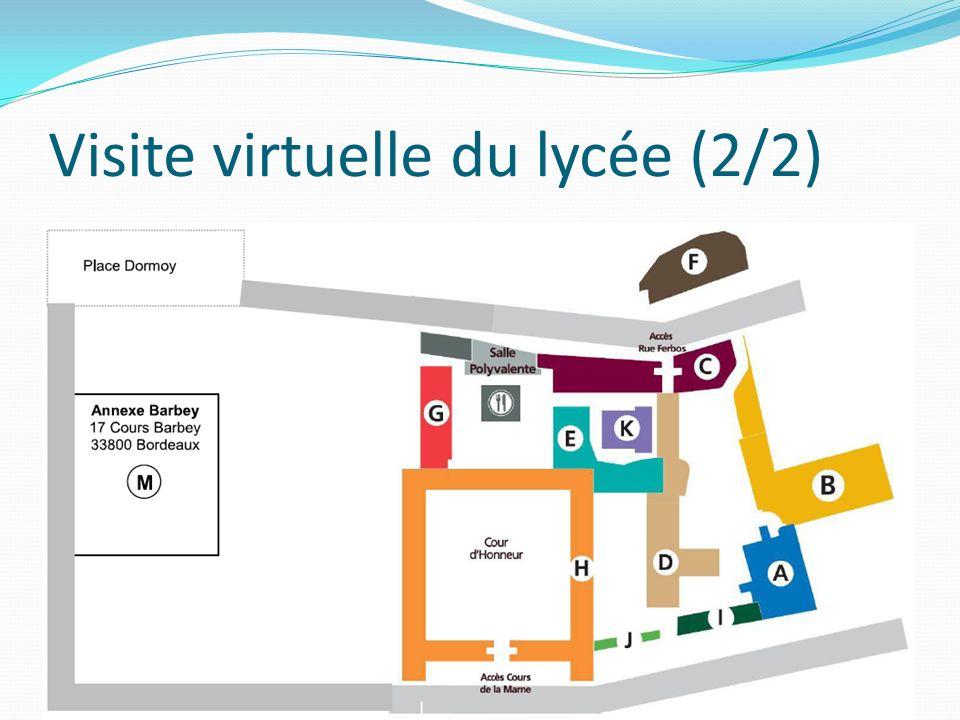 Visite virtuelle du lycée (2/2)