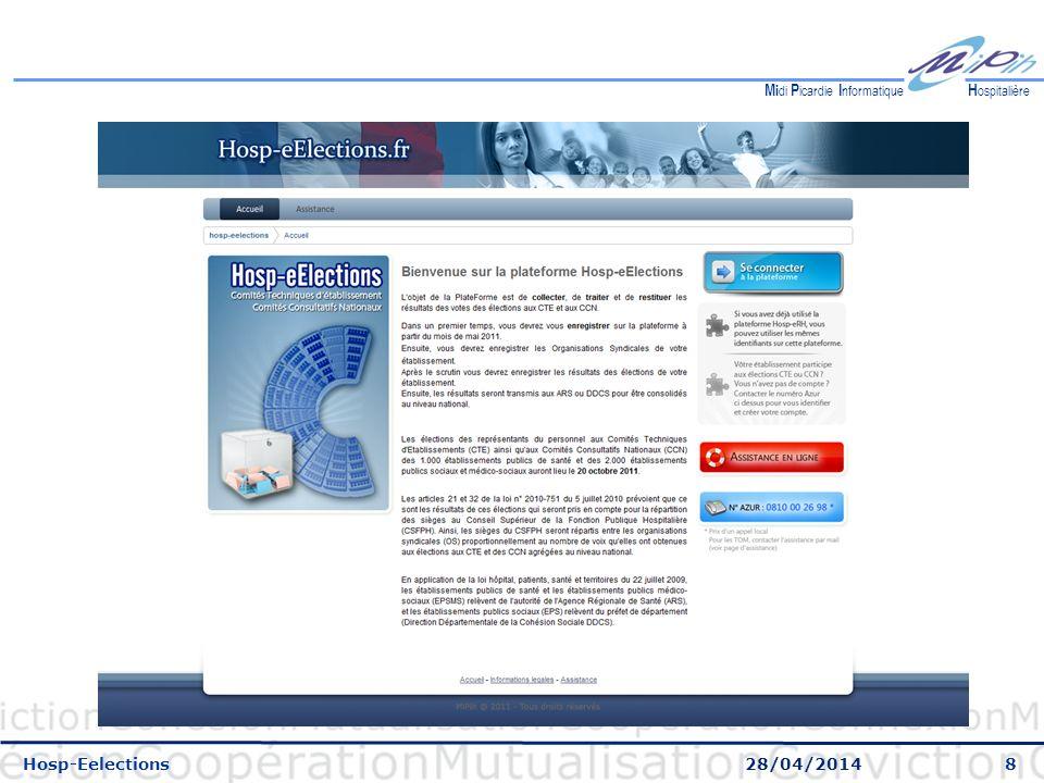 8 H ospitalière M i di P icardie I nformatique Hosp-Eelections 28/04/2014