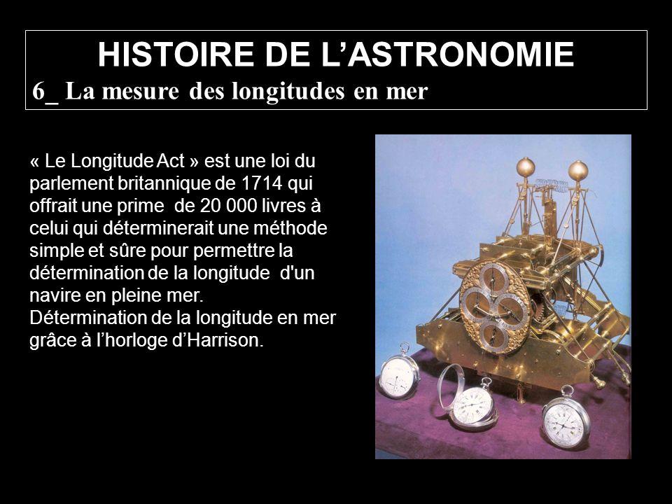 « Le Longitude Act » est une loi du parlement britannique de 1714 qui offrait une prime de 20 000 livres à celui qui déterminerait une méthode simple