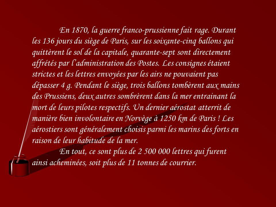 Les boules de Moulins Dans les temps troublés de lannée 1870, les Français iront même jusquà utiliser le cours de la Seine pour envoyer de la correspo