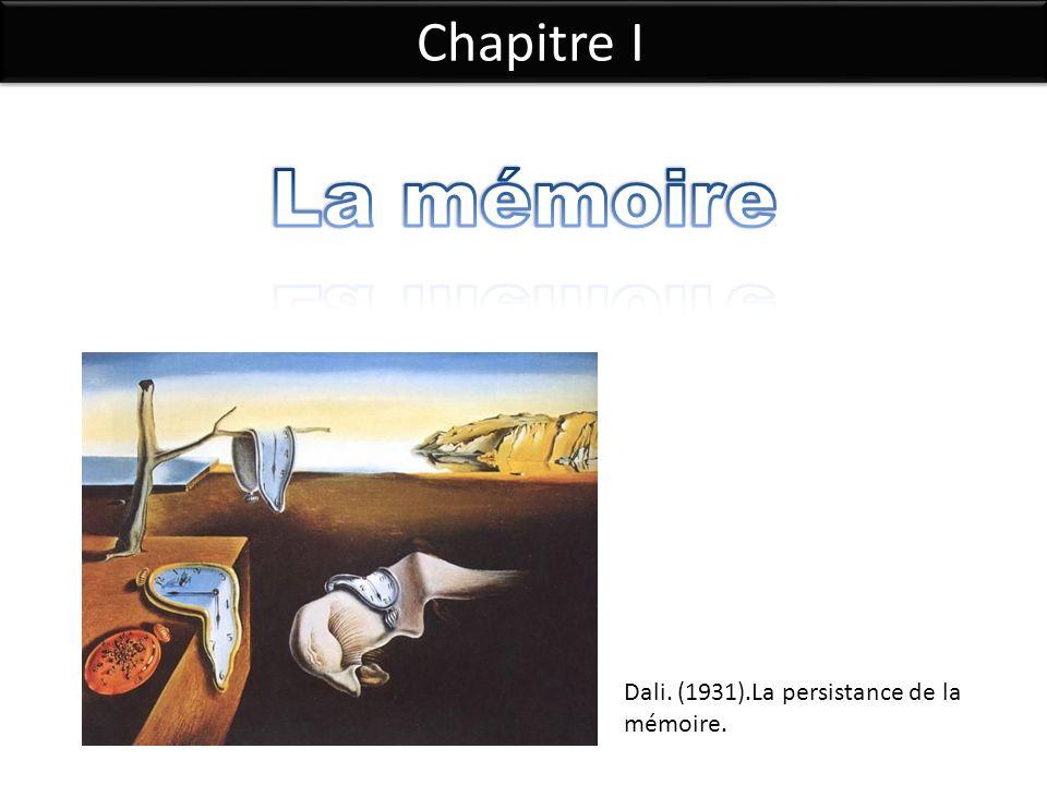 Chapitre I Dali. (1931).La persistance de la mémoire.