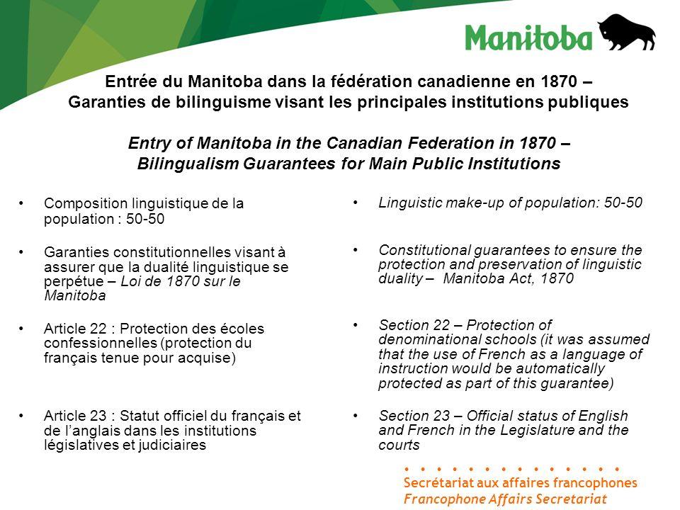1979 Affaire Forest – La Cour suprême du Canada déclare inconstitutionnelle la loi de 1890 qui abolissait le statut officiel du français au sein des institutions législatives et judiciaires.