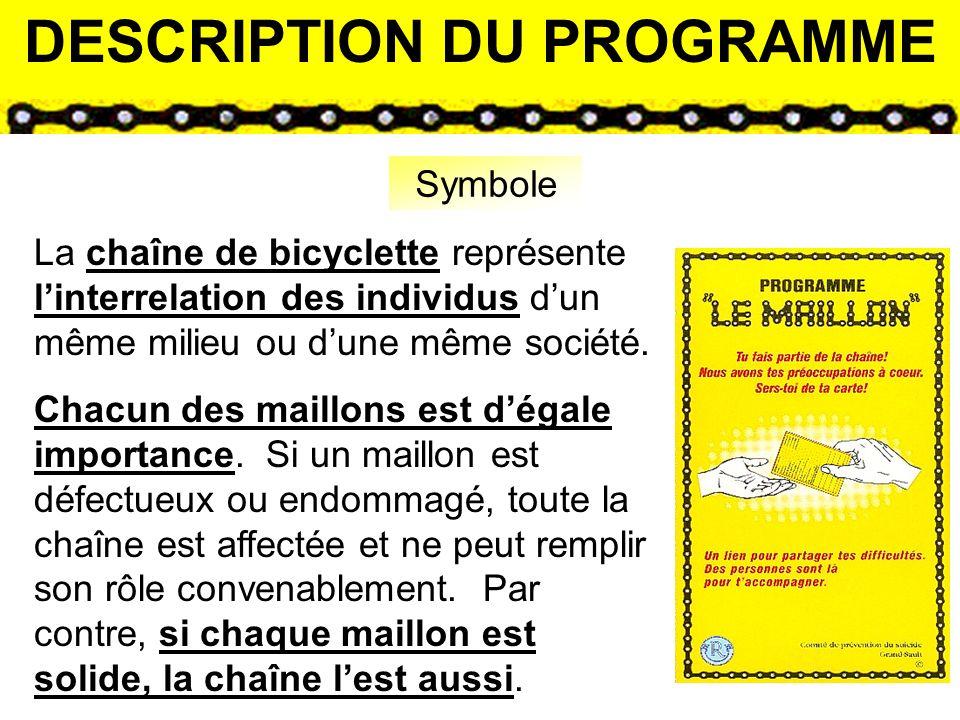 « Le Maillon » est un programme qui permet à lindividu qui vit une problématique de tout ordre daccéder facilement aux services existants dans le milieu à laide dune personne accompagnatrice.