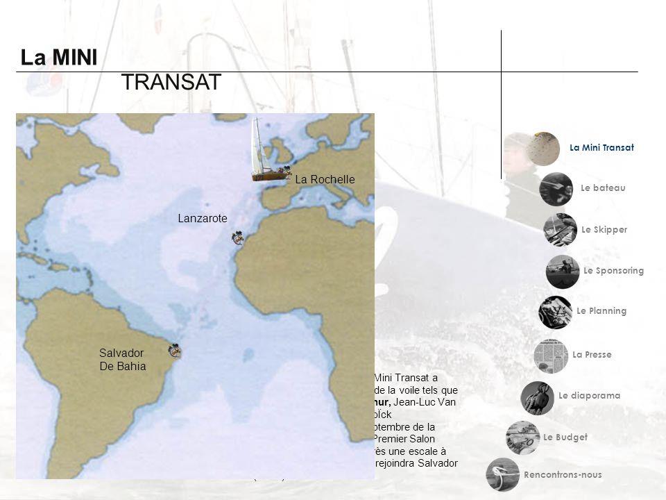 La MINI Histoire TRANSAT La Mini Transat a été créée en 1977. Cette course au large a pour but de traverser l'Atlantique en solitaire à la voile sur d