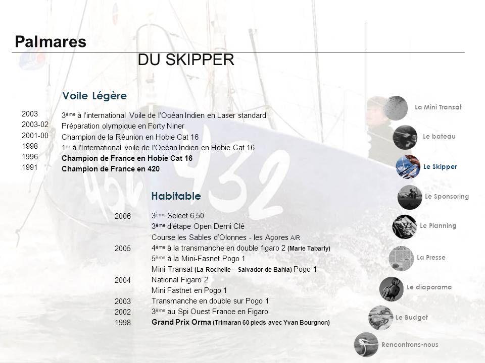 Voile Légère 3 ème à l'international Voile de l'Océan Indien en Laser standard Préparation olympique en Forty Niner Champion de la Réunion en Hobie Ca