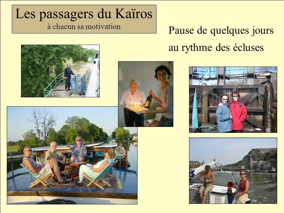 Les passagers du Kaïros à chacun sa motivation Pause de quelques jours au rythme des écluses