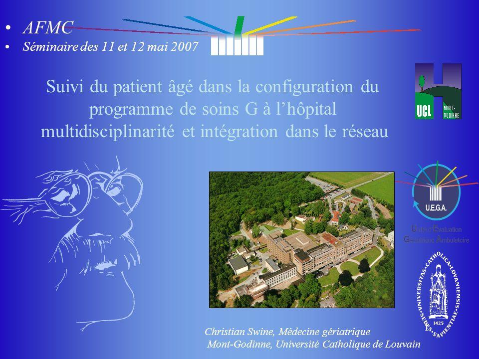 du masque du masque 1 Suivi du patient âgé dans la configuration du programme de soins G à lhôpital multidisciplinarité et intégration dans le réseau