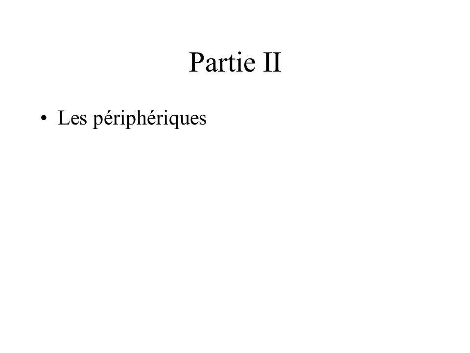 Partie II Les périphériques