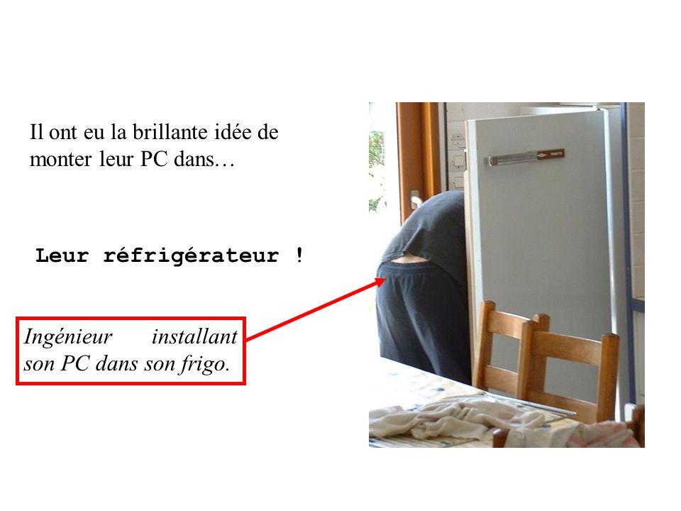 Il ont eu la brillante idée de monter leur PC dans… Leur réfrigérateur ! Ingénieur installant son PC dans son frigo.