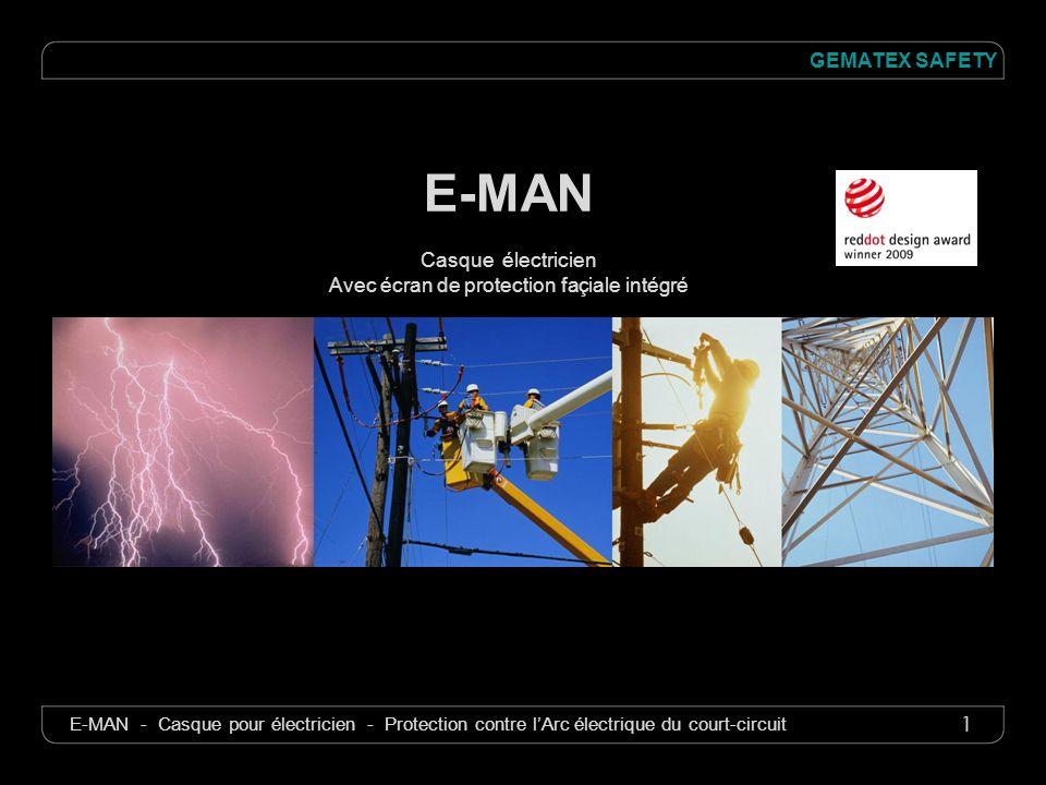 1 GEMATEX SAFETY E-MAN - Casque pour électricien - Protection contre lArc électrique du court-circuit E-MAN Casque électricien Avec écran de protectio