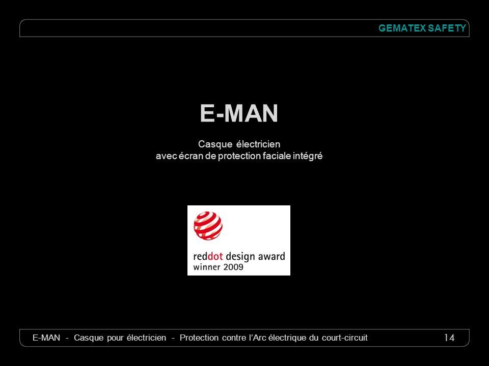 14 GEMATEX SAFETY E-MAN - Casque pour électricien - Protection contre lArc électrique du court-circuit E-MAN Casque électricien avec écran de protecti