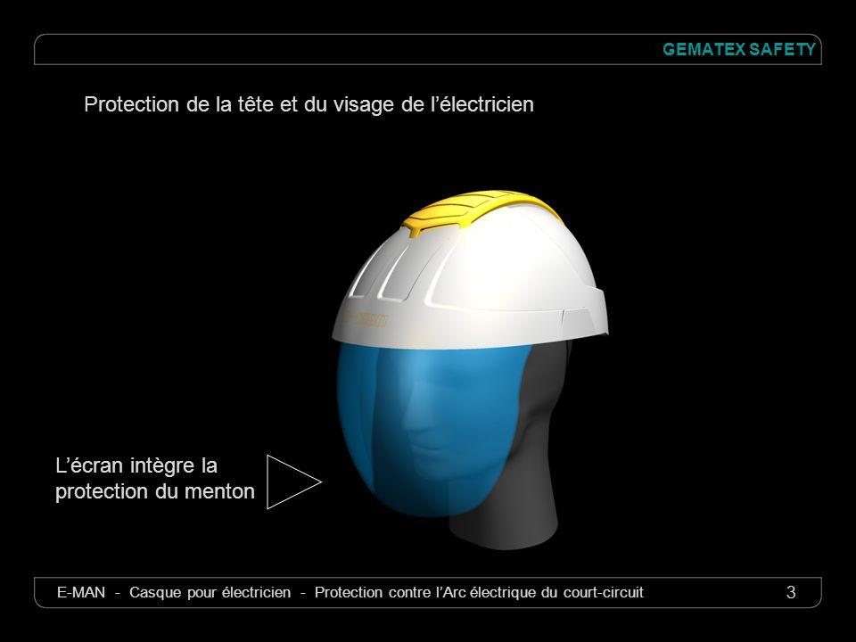 3 GEMATEX SAFETY E-MAN - Casque pour électricien - Protection contre lArc électrique du court-circuit Protection de la tête et du visage de lélectrici