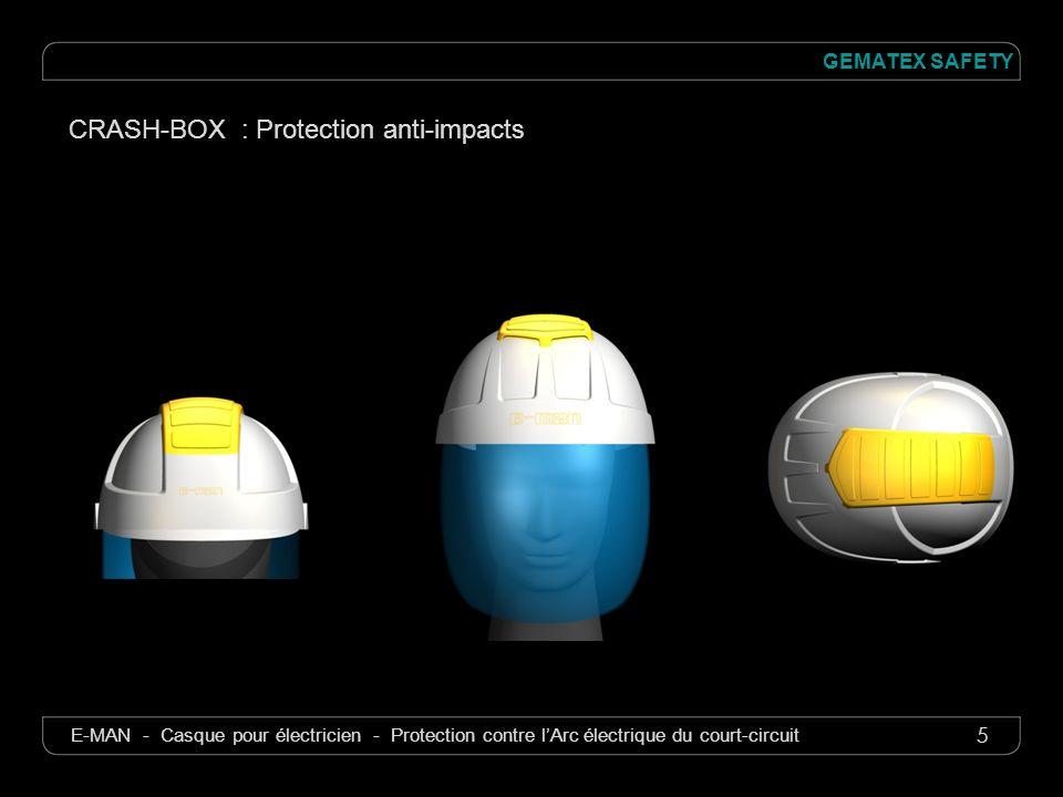 5 GEMATEX SAFETY E-MAN - Casque pour électricien - Protection contre lArc électrique du court-circuit CRASH-BOX : Protection anti-impacts