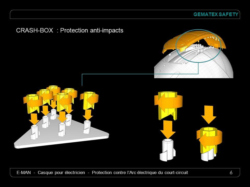 6 GEMATEX SAFETY E-MAN - Casque pour électricien - Protection contre lArc électrique du court-circuit CRASH-BOX : Protection anti-impacts