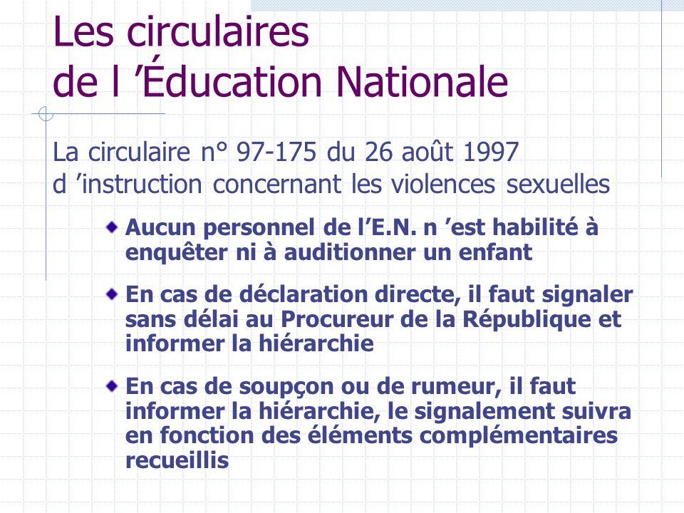 Les circulaires de l Éducation Nationale Aucun personnel de lE.N.