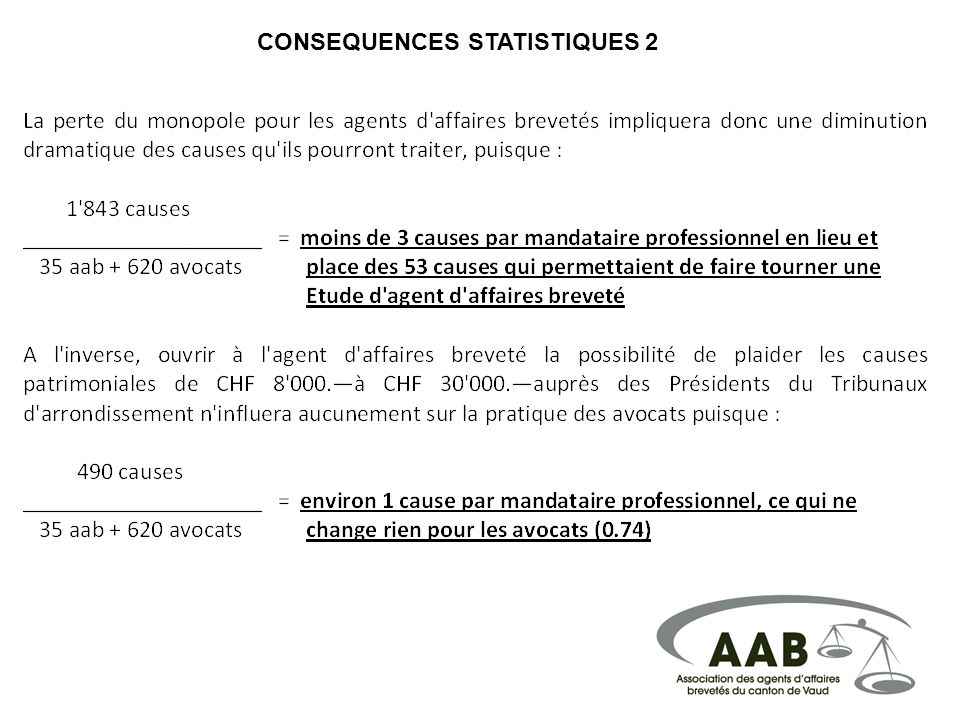 CONSEQUENCES STATISTIQUES 2