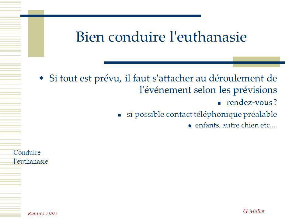 Conduire l'euthanasie Prévue Soudaine Naturelle Conduire l'euthanasie