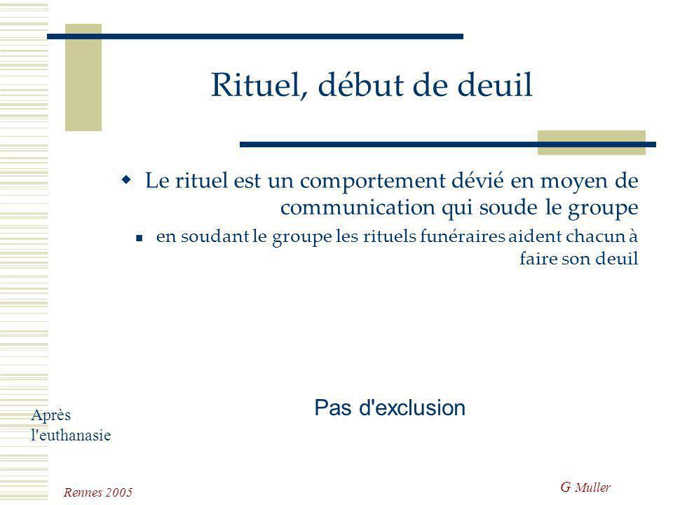 G Muller Rennes 2005 Après l'euthanasie