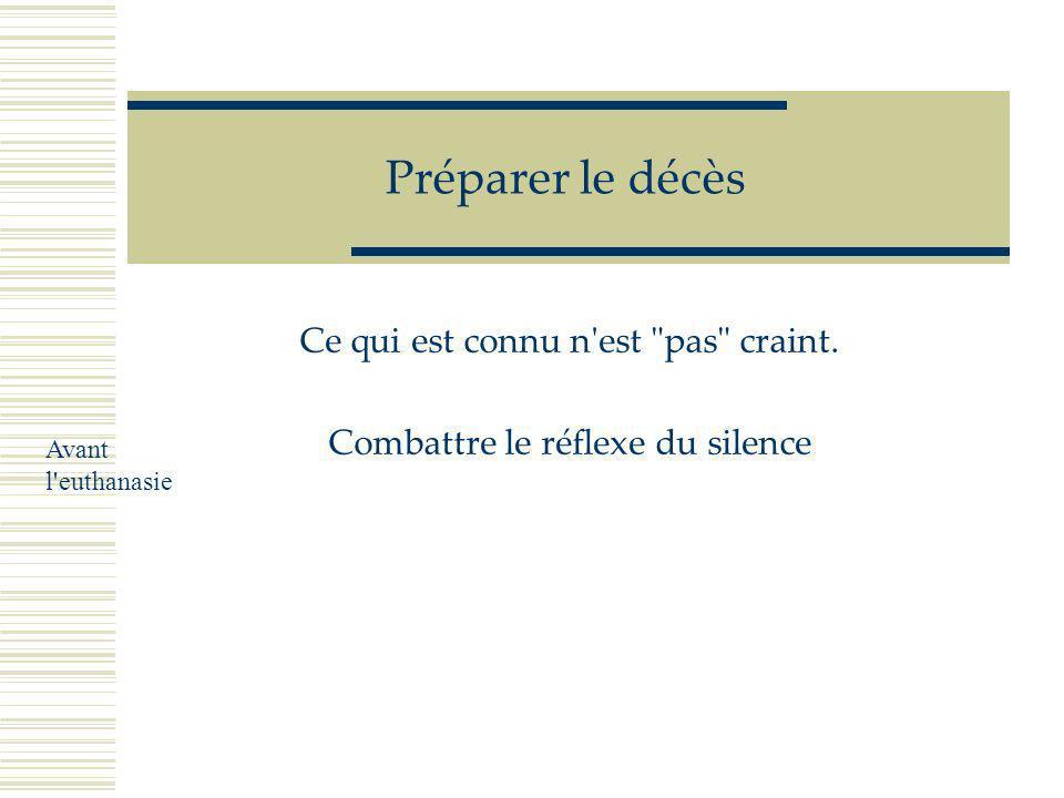 G Muller Rennes 2005 Prévoir la mort Conduire l'euthanasie Gérer le deuil Conduire l'euthanasie Après l'euthanasie Avant l'euthanasie