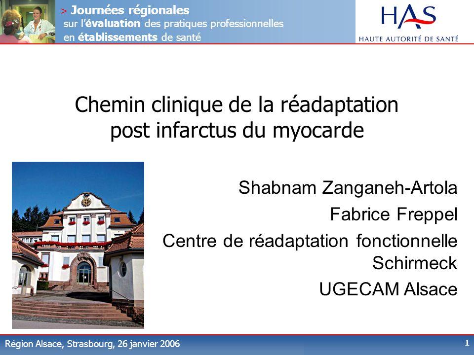 > Journées régionales sur lévaluation des pratiques professionnelles en établissements de santé Région Alsace, Strasbourg, 26 janvier 2006 1 Chemin cl