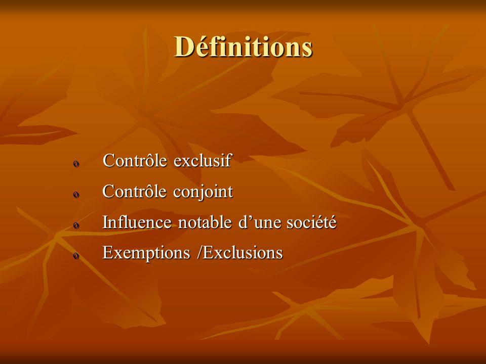 Périmètre de consolidation C est lensemble des sociétés qui doivent faire lobjet dune consolidation.