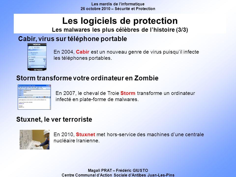 Les mardis de linformatique 26 octobre 2010 – Sécurité et Protection Magali PRAT – Frédéric GIUSTO Centre Communal dAction Sociale dAntibes Juan-Les-P