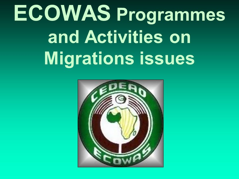 Copyright ECOWAS June 200411 ECOWAS Bank for Investment and Development (EBID) ECOWAS Regional Development Fund (ERDF) ECOWAS Regional Investment Bank (ERIB) West African Monetary Agency (WAMA) West African Monetary Institute (WAMI) Specialized Technical Commissions ECOWAS INSTITUTIONS