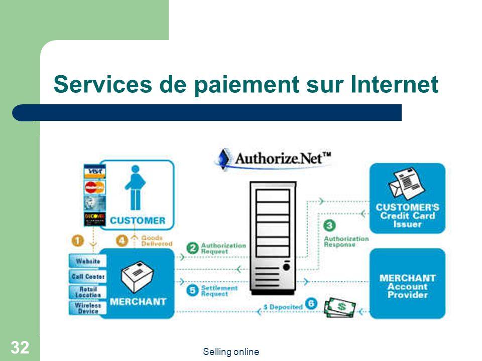 Selling online 32 Services de paiement sur Internet