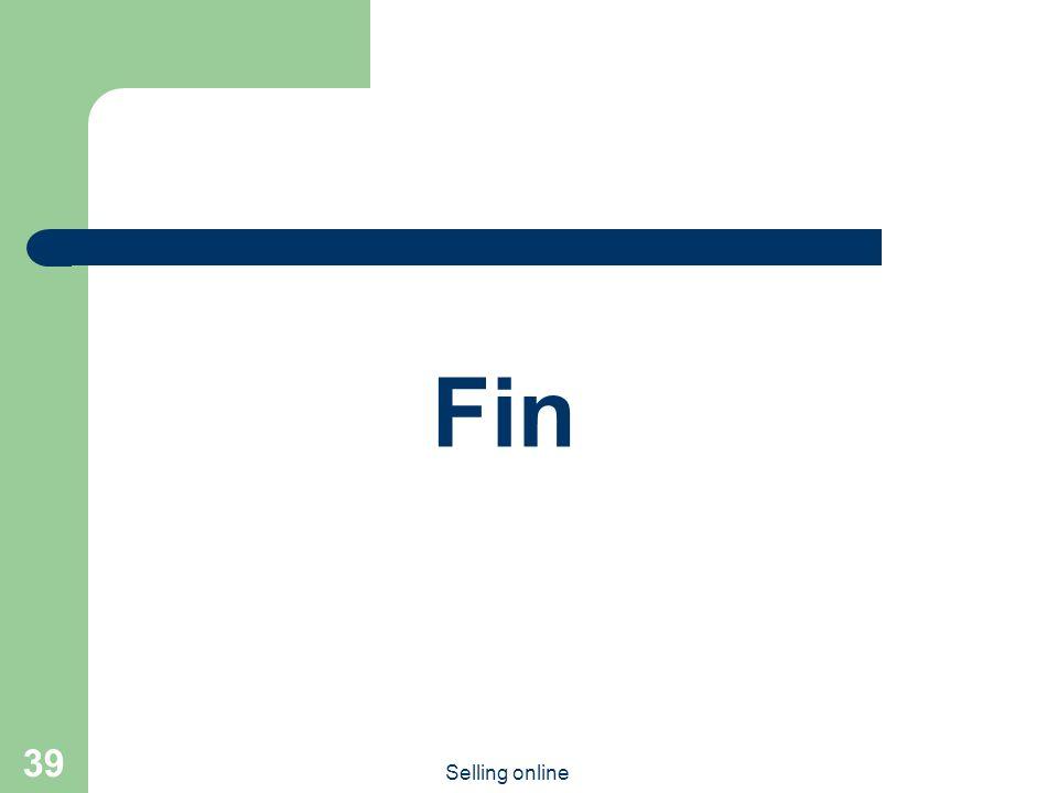 Selling online 39 Fin