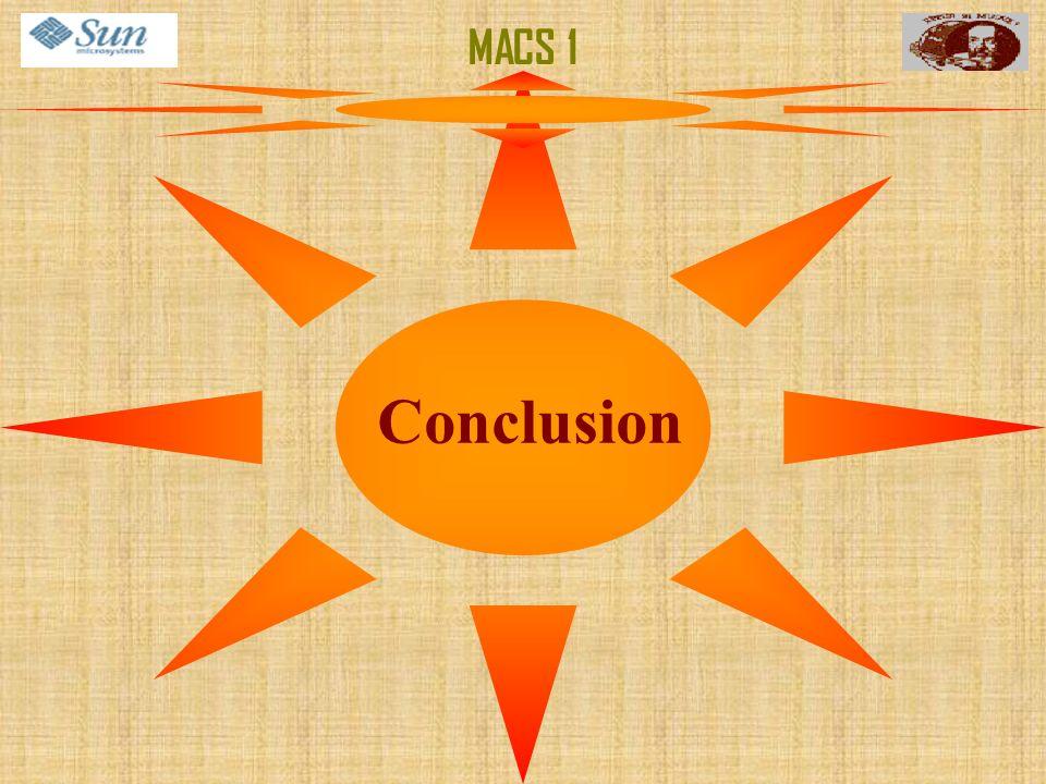 Conclusion MACS 1