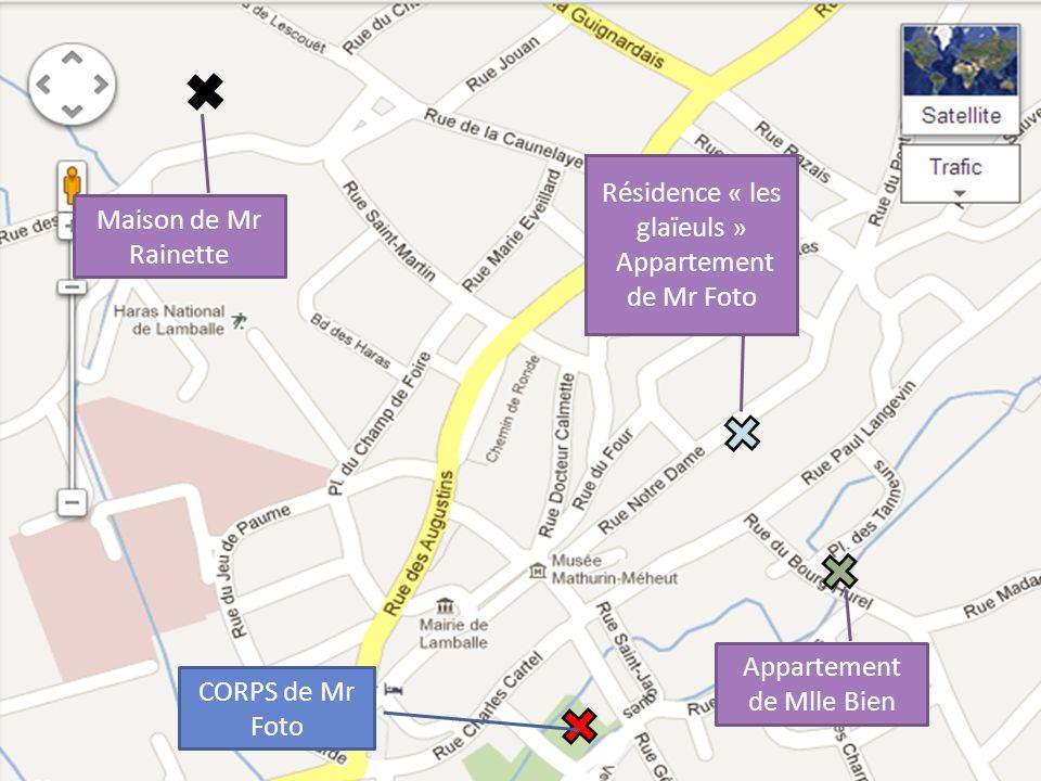 CORPS de Mr Foto Résidence « les glaïeuls » Appartement de Mr Foto Maison de Mr Rainette Appartement de Mlle Bien