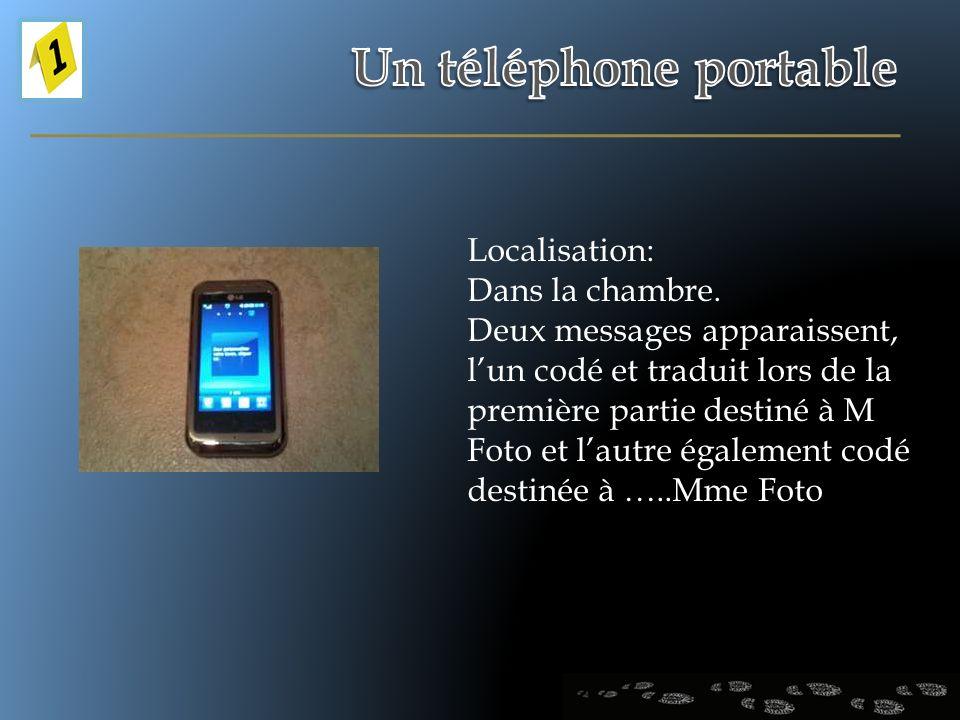 Localisation: Dans la chambre. Deux messages apparaissent, lun codé et traduit lors de la première partie destiné à M Foto et lautre également codé de