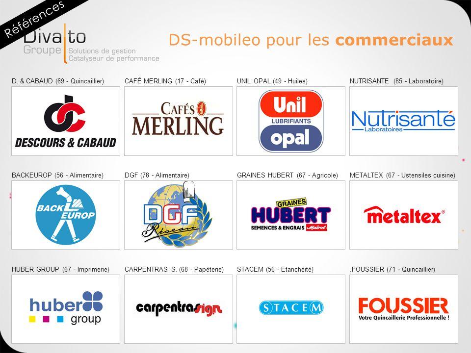 D. & CABAUD (69 - Quincaillier)CAFÉ MERLING (17 - Café)UNIL OPAL (49 - Huiles)NUTRISANTE (85 - Laboratoire) BACKEUROP (56 - Alimentaire)DGF (78 - Alim
