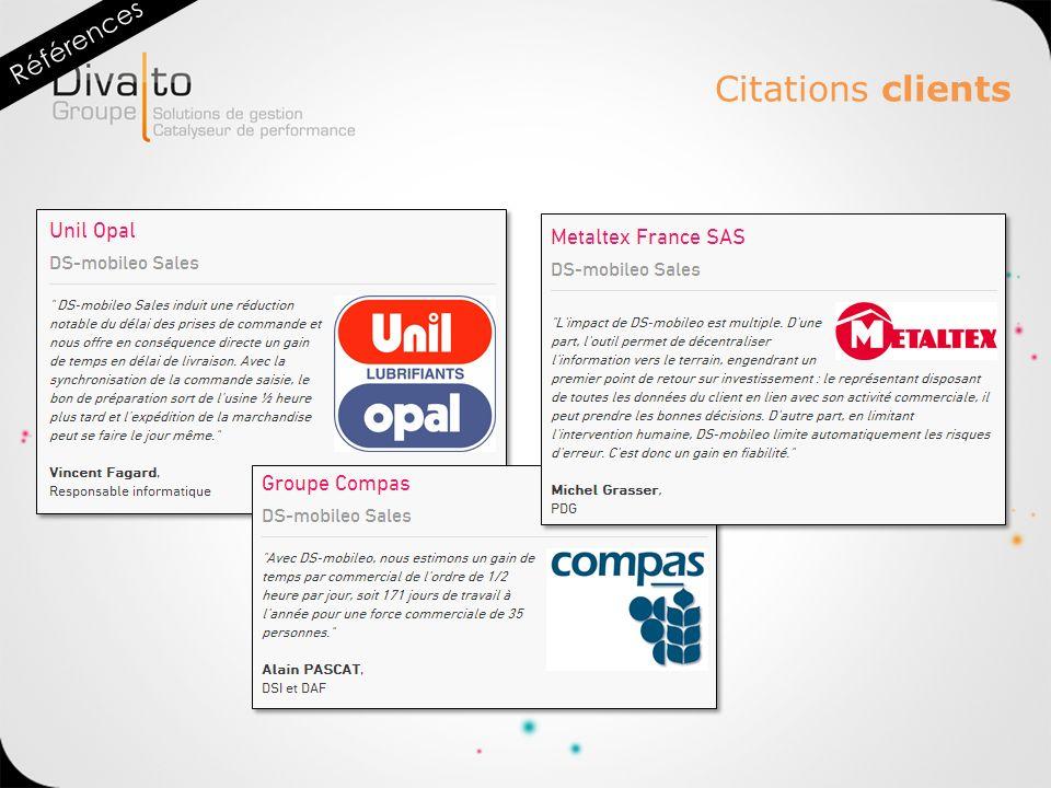 Citations clients Références