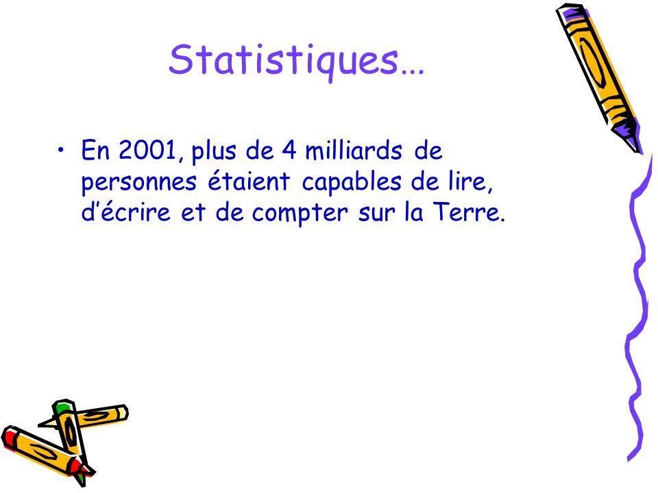 Au Québec… Il y a environ 1 million de personnes qui sont analphabètes… Dans Lanaudière, 54 000 personnes éprouvent de sérieuses difficultés à lire, à écrire et à compter.