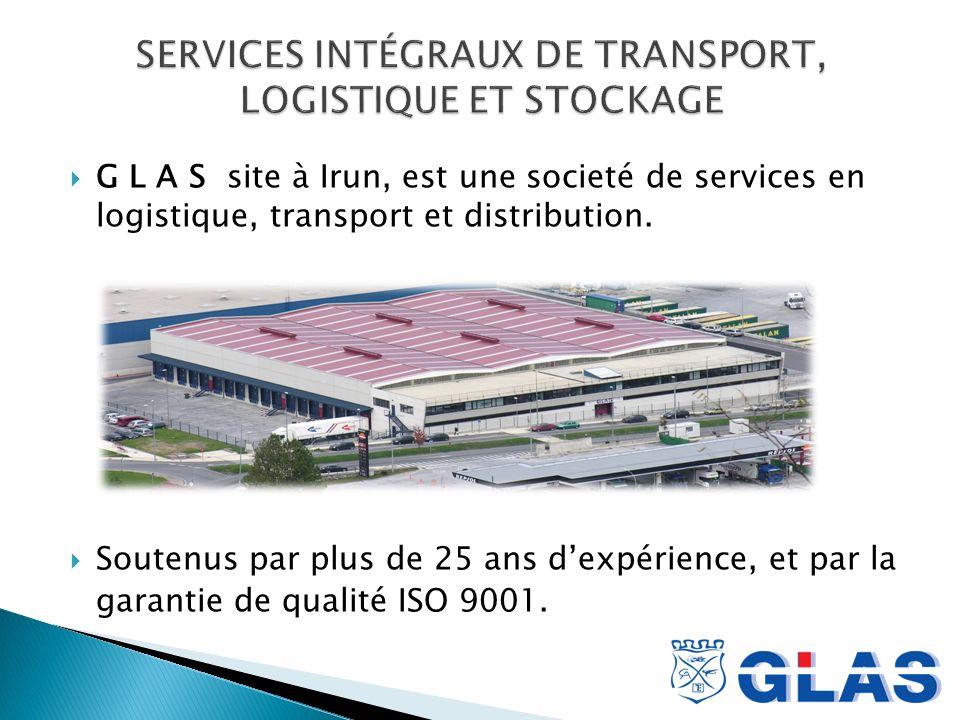 G L A S site à Irun, est une societé de services en logistique, transport et distribution.