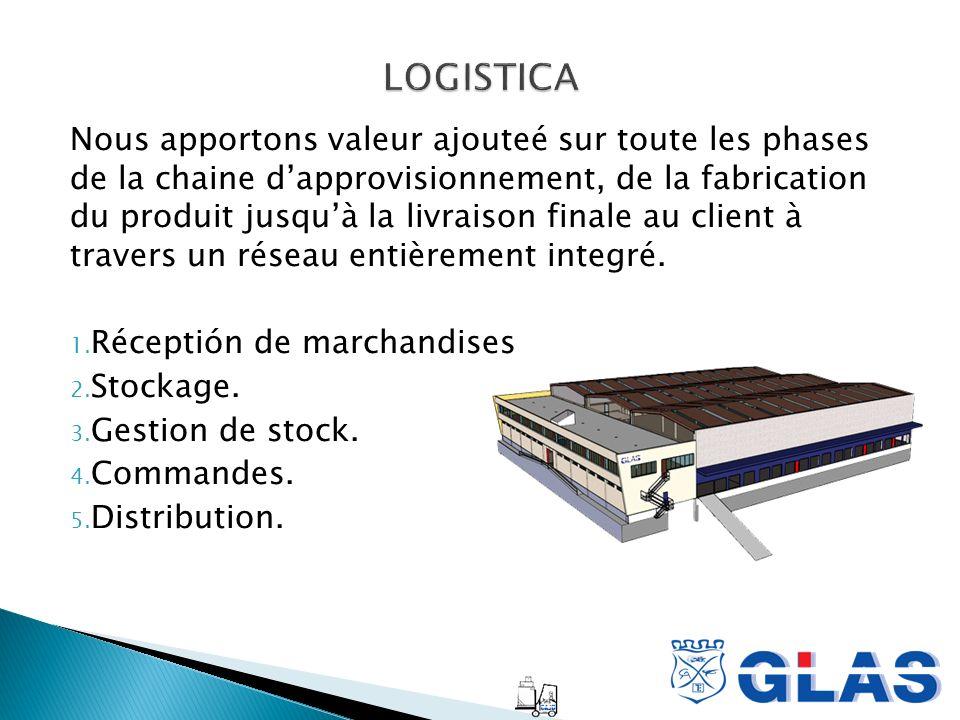 Nous apportons valeur ajouteé sur toute les phases de la chaine dapprovisionnement, de la fabrication du produit jusquà la livraison finale au client à travers un réseau entièrement integré.