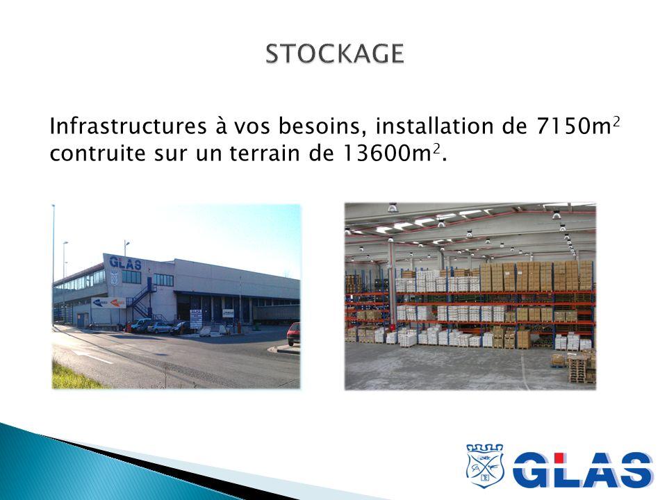Infrastructures à vos besoins, installation de 7150m 2 contruite sur un terrain de 13600m 2.