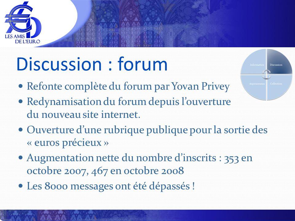 Discussion : forum Refonte complète du forum par Yovan Privey Redynamisation du forum depuis louverture du nouveau site internet. Ouverture dune rubri
