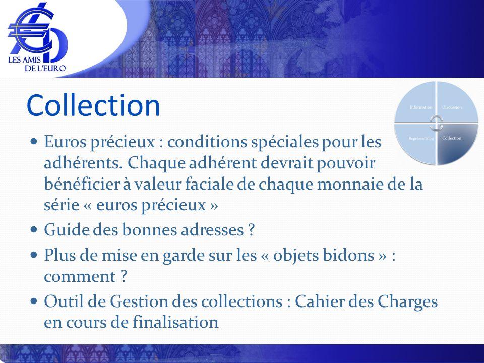 Collection Euros précieux : conditions spéciales pour les adhérents. Chaque adhérent devrait pouvoir bénéficier à valeur faciale de chaque monnaie de