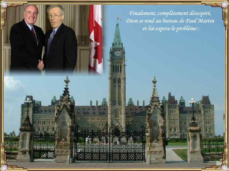 Chrétien accepte, Dion quitte le bureau et convoque une réunion spéciale avec quelques ministres.