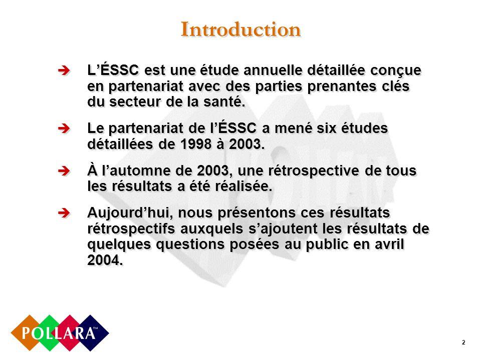 2 Introduction LÉSSC est une étude annuelle détaillée conçue en partenariat avec des parties prenantes clés du secteur de la santé.